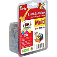 Inkrite Printer Ink 3 Pack (with Chip) For Canon Ip3300 4200 4300 5200 Ix4000 - Cli-8 Cmy (horse) - Ngmcx008u3wc