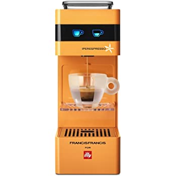 illycaffè Y3 Iperpresso - Máquina de café en cápsulas, color naranja
