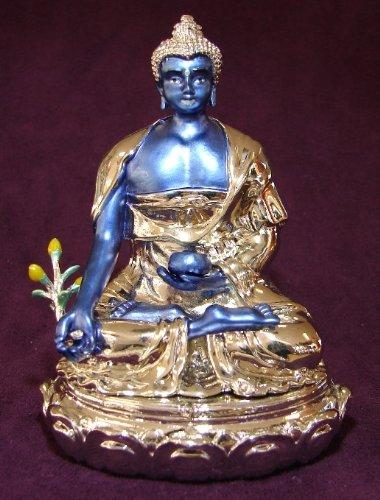Bejeweled medicina Buda–azul Buda para Feng Shui uso
