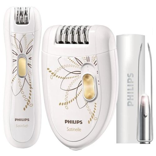 Philips Epilierer inkl. Bikinitrimmer & Pinzetten-Set (Sonderedition) HP6540/00, 46 Watt