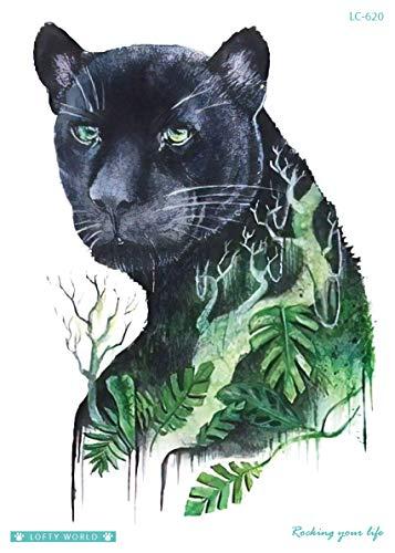 Leopard Tattoo Gepard Tattoo Tier Tattoo Festival Tattoo Oberarm Tattoo Fake Tattoo LC620