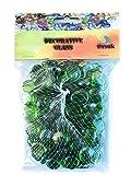 Cristal Piedras para Acuario y decoración verde Color- 200pcs (1kg)