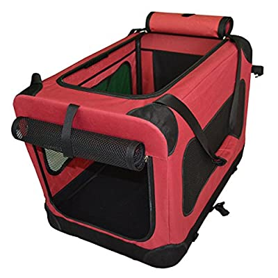 PULSE New 2019 Pet Carrier Bag Crate, Fabric Portable Easy Foldable, with Fleece Mat from PULSE