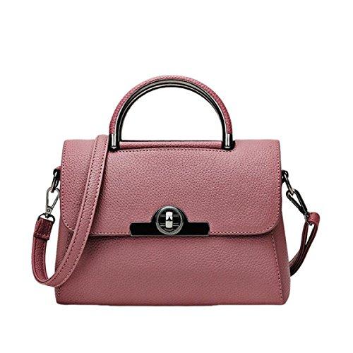 Hand-Transfer-Verschluss Frauen Stereotypen Süße Dame Messenger Bag Schultertasche Handtasche Red1