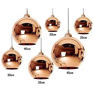 sale dst copper mirror ball 30cm deckenlampen kronleuchter fr esszimmer wohnzimmer schlafzimmer - Kronleuchter Fur Wohnzimmer