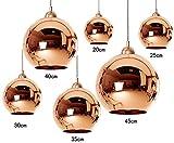 Dst Moderne Transparent Miroir Cuivre Plafond Lustre Lumi¨¨res D30 pour Salon Chambre Salle d'¨¦tude