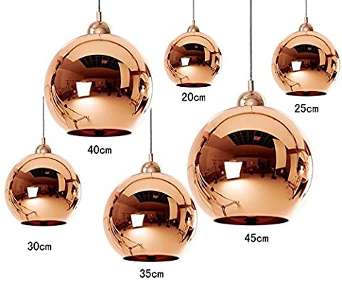 Dst Mordern Transparent Copper Mirror Ceiling Chandelier Lights D40 for Living Room Bedroom Study Room