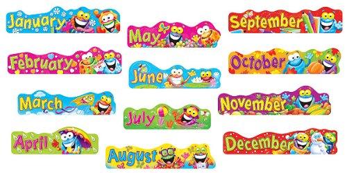 Monatliche Header-Poster für Klassenzimmer, Display-Frogtastic Design