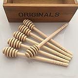 1PC / 50PCS Palo para miel de madera creativa, barra de agitación de miel, herramienta de cocina