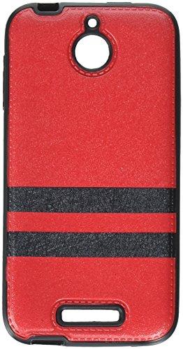 Eagle Cell Hybrid TPU PU Schutzhülle für HTC Desire 510, rot/schwarz