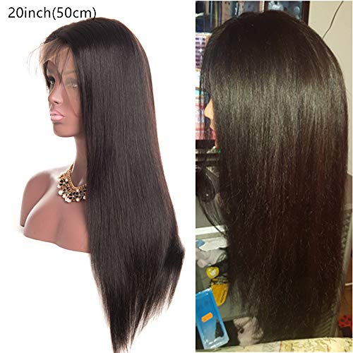 Lace Baby-haar-perücke (alipop 360Lace Frontal Straight Wig Lace Front Wig Peruvian Human Hair Wigs with Baby Hair Remy Pre Plucked 360Lace Wig 18inch)