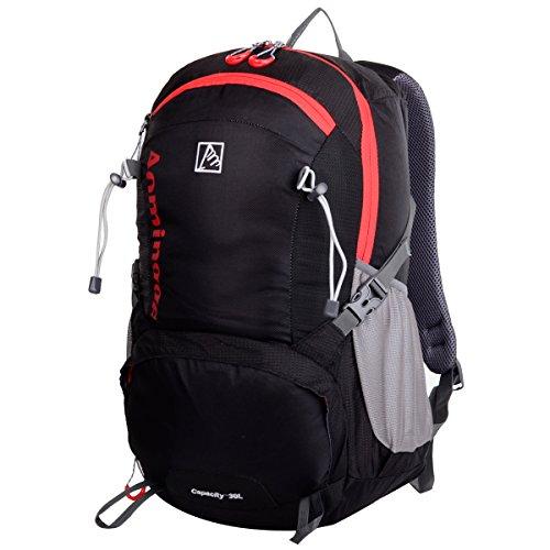 HWJIANFENG Zaini 30L Sportivi Unisex in Nylon Poliestere da Trekking Borse per Outdoor Campeggio Escursionismo Viaggi Zaino Quotidiano per Scuola Università