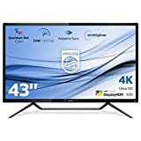 Philips 436M6VBPAB/00 108 cm (42,5 Zoll) Konsolen Monitor (HDMI, USB Typ-C, USB Hub, 4ms Reaktionszeit, DisplayPort, Mini DisplayPort, 60 Hz, 3840x2160, Ambiglow) schwarz
