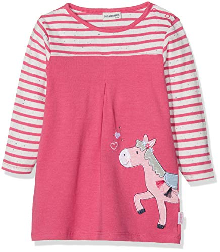 SALT AND PEPPER Baby-Mädchen B Dress Mon Amie Stripe Kleid, (Paradise Pink Melange 842), 68