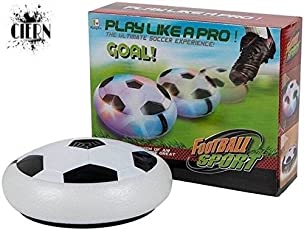 CIERN Kid's Soft Elastic Magic Hover Indoor Football (Ultimate Soccer Game By Cora) with Multi Lighting Feature (Multicolour)