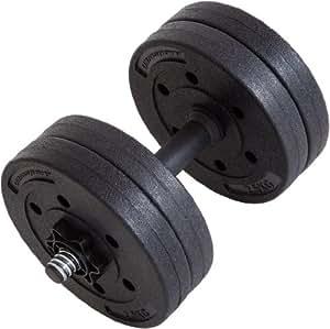 Ultrasport Set d'haltères courts de 10kg, set de curl