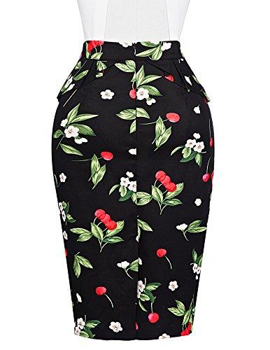 Damen Vintage Rock 50er Jahre Stil Party Dress Knielang M CL008928-4 -