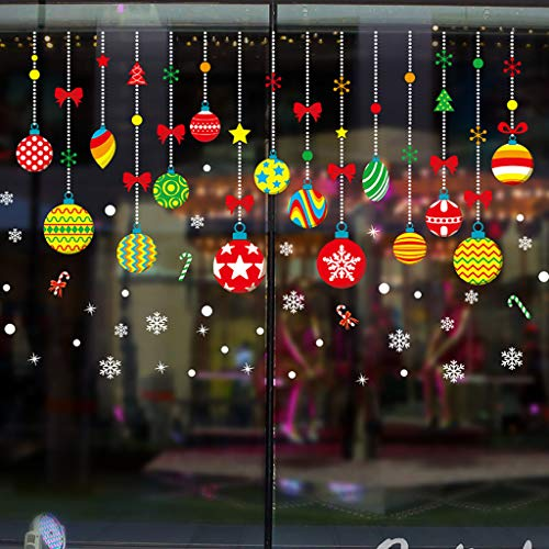 Only Weihnachts-Aufkleber, Wandtattoo, selbstklebend, abnehmbar, für Rückseite, Fenster, Glas, Wandaufkleber für drinnen und draußen 6258