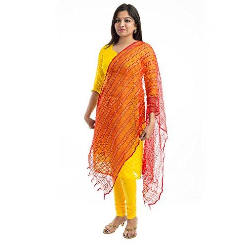 Lodestone Women's Bhagalpuri Dupatta (Red)