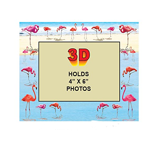Rockin Gear 3D Bilderrahmen-Fun 3D-Bilder Design Bilderrahmen Hält 4x 6Bild 4 by 6 Photo Flamingo