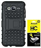 Avzax Kickstand Dual Layer Hybrid Cover for Samsung GALAXY S3 (Black) With Screen