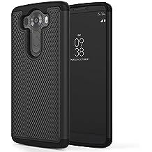 LG V10 2015 Phone Funda - MoKo [Anti Drop] Hard Polycarbonate + Silicone Protector Bumper Funda Para LG V10 5.7 Inch Smartphone 2015 Release, NEGRO
