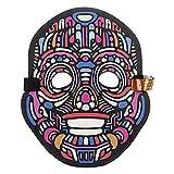TianranRT Party Version Sound Reaktiv LED Maske Tanz Rave Light Up Einstellbar Maske (A)