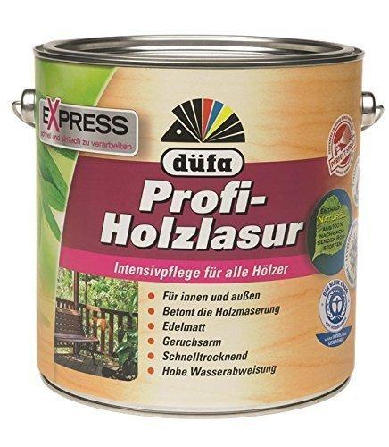 Düfa Express Profi-Holzlasur 4 Liter Edelmatt - 1 Stunde Trocknungszeit, für ca. 36 qm, Farbton:Palisander