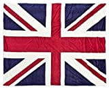 Kuscheldecke Lammfelloptik / Great-Britain Flagge 150x200