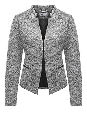 ONLY Damen Anzugjacke Onlstory Mel Zip Blazer CC Tlr, Grau (Medium Grey Melange Medium Grey Melange), 36 (Polyester Blazer 100%)