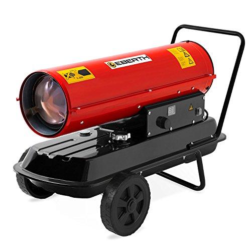 EBERTH 30kW Direkt-Ölheizgebläse (Fahrgestell, Überhitzungsschutz, elektronische Flammensicherung, integriertes Thermostat)