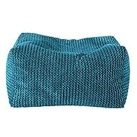 Lounge Pug® - Pom Pom - Bean Bag Footstool - Small - (Size 20cm H x 35cm D x 45cm Wide)