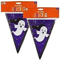 8m Haunted Halloween Bunting Plastic 20 Flag Waterproof Banner Decoration Vampire Witch Mummy Reusable Indoor Outdoor Garden House Party
