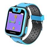VANNICO Smartwatch Niños, Reloj Niños, Reloj Inteligente, Juegos de Pantalla táctil Smartswatch con Llamadas Cámara Digital para niños Niñas Niños Regalo de cumpleaños (Blue)