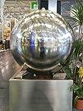 Köhko Wasserspiel Ø ca. 50 cm 26002 Springbrunnen mit LED-Beleuchtung und Edelstahlbecken