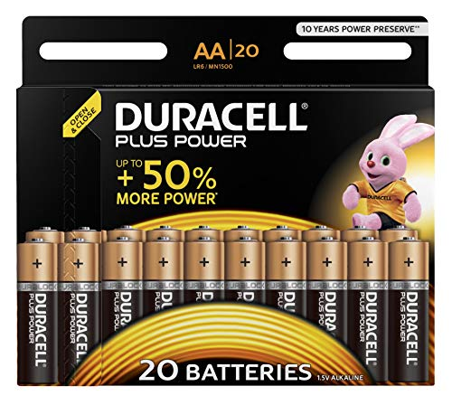 Duracell Plus Power Alkaline AA Batterien, 20er Pack -