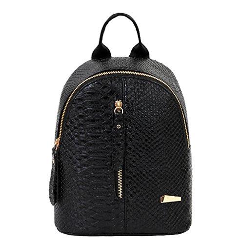 Imagen de  de cuero para mujer bolsas de escuela para adolescentes bolsa de viaje bolsa de hombro lmmvp 24cm*20cm*10cm, negro