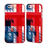 Official Team GB British Olympic Association Blue Square Geometric Union Jack Red Fender Case for iPhone 6 Plus/iPhone 6s Plus