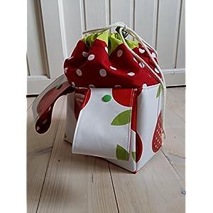 Lenkertasche, rote Äpfelchen - mit Häubchen