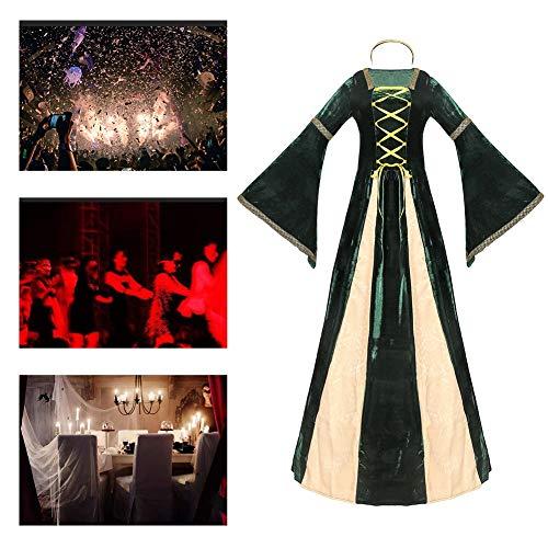 JH&MM Halloween Kostüm weibliche griechische Hofprinzessin Königin Retro europäischen Stil Drama Drama Kostüm,XL