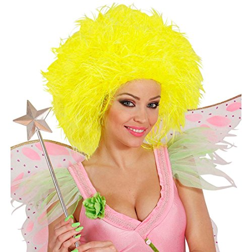 Perruque de femme frisée jaune fluo perruque fée cheveux frisés perruque soirée perruque punk frisée frisottis perruque de carnaval multicolore accessoires déguisement contes de fées elfe
