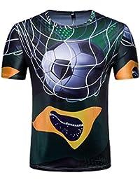 ALIKEEY Personalidad Mens 3D Formula Print Casual Camisa De Manga Corta Top Blusa Camiseta Estampada para Hombre Arriba… NGqs2HB