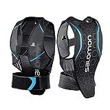 Salomon Herren Flexcell Men Ski-Rückenprotektor, Verstellbar, MotionFit-Technologie, Atmungsaktives Mesh-Material, schwarz/blau, Größe XS, L39139100