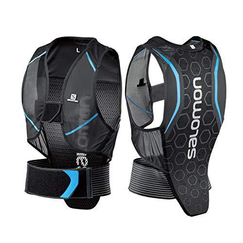 Salomon Herren Flexcell Men Ski-Rückenprotektor, Verstellbar, MotionFit-Technologie, Atmungsaktives Mesh-Material, schwarz/blau, Größe M, L39139100 -