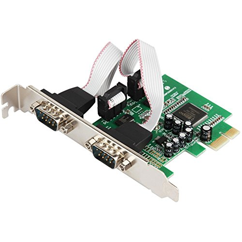 2 Port RS232 RS-232 Serial Port COM to PCI-E PCI Express Card Adapter Converter IOCREST 2-port Serial Low Profile Bracket (Serial Port Bracket Low Profile)