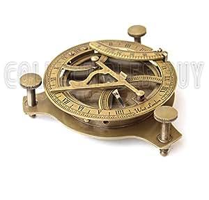 Cadran solaire Boussole en laiton Vintage nautique Marine Instrument Cadeau