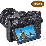 ULBTER X-T30 Protezione schermo per fotocamera Fujifilm X-T30 X-T20 X-T10 X-E3 XF10 X-T100 X-A1 X-A2 Fuji Film XT30,0,3mm in vetro temperato durezza 9H anti-graffio anti-impronte anti-bolle [3 pezzi]