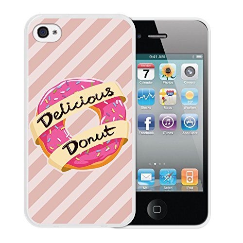 iPhone 4 iPhone 4S Hülle, WoowCase Handyhülle Silikon für [ iPhone 4 iPhone 4S ] Cool Swag Smile Handytasche Handy Cover Case Schutzhülle Flexible TPU - Rosa Housse Gel iPhone 4 iPhone 4S Transparent D0559