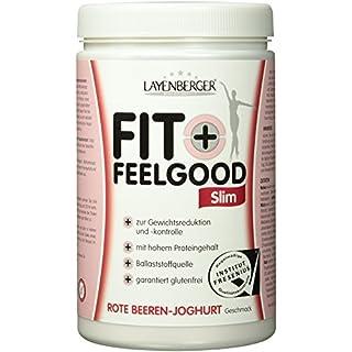 Layenberger Fit+Feelgood Slim Mahlzeitersatz Rote Beeren-Joghurt, 3er Pack (3 x 430 g)
