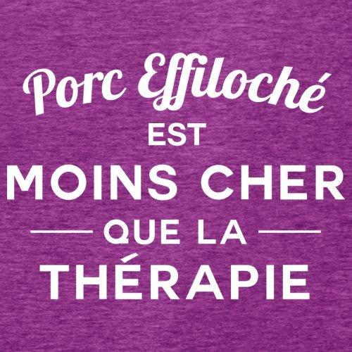 Porc effiloché est moins cher que la thérapie - Femme T-Shirt - 14 couleur Rose Antique
